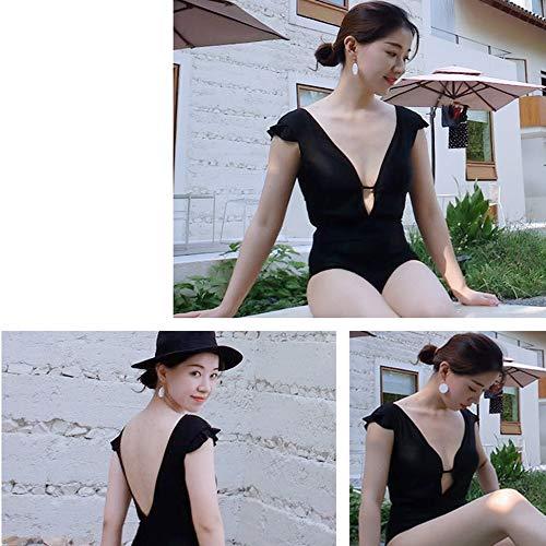 Body Moda Sexy Mujer Interior Scytsd Mono One Piece Escote Ropa V Lencería Mini De En q1BPBnRt
