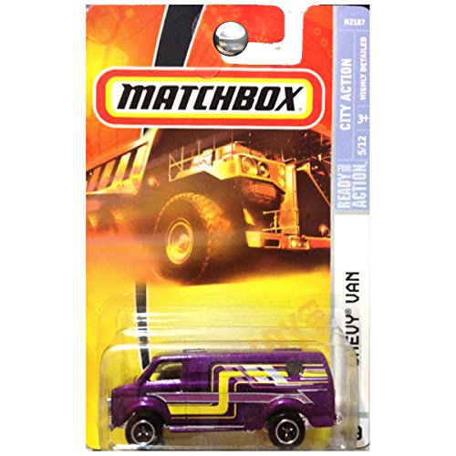 Matchbox City Action Chevrolet Chevy Van Purple -