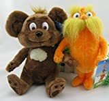 Dr. Seuss the Lorax 9''/22cm Lorax & Bar-ba-loots 2pcs Plush Doll Stuffed Animals Figure Soft Anime Collection Toy
