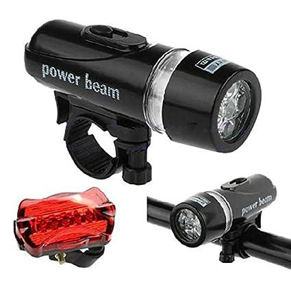 xintiandi - Juego de 5 Luces LED para Bicicleta de montaña y Bicicleta, Luces Delanteras