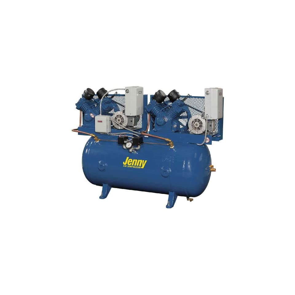 Jenny Compressors GT2C 60C 460/3 2 HP 60 Gallon Tank 3 Phase 460 Volt, Two Stage Simplex Electric Climate Control Compressor