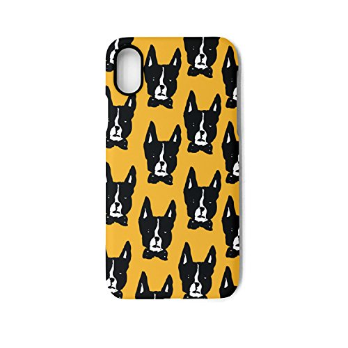Boston Terrier Plates (Boston Terrier IPhone X Case Plate And Soft TPU Heavy Duty Protection Phone Back Case Cover)