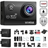 WiMiUS Waterproof Action Camera Wifi HD Sports Camera 1080P