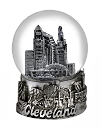 Cleveland Ohio Snow Globe Silver 65mm