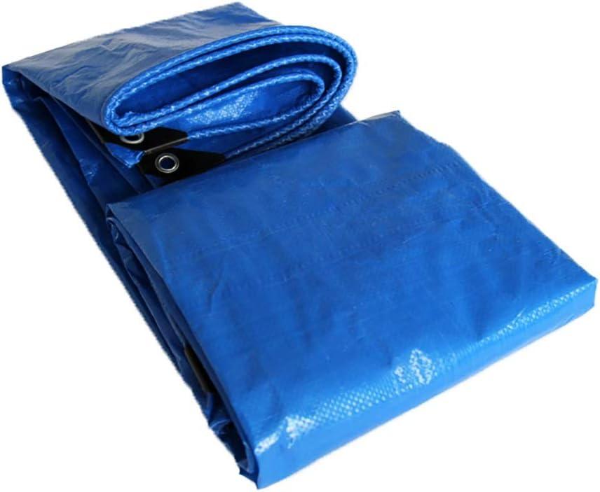 8x10M Z&YY Tuch Filmpapier Regendichte Tuchplane Blauer Farbton Regenschutz Körnungstuch Doppelte Blaue Plastikplane