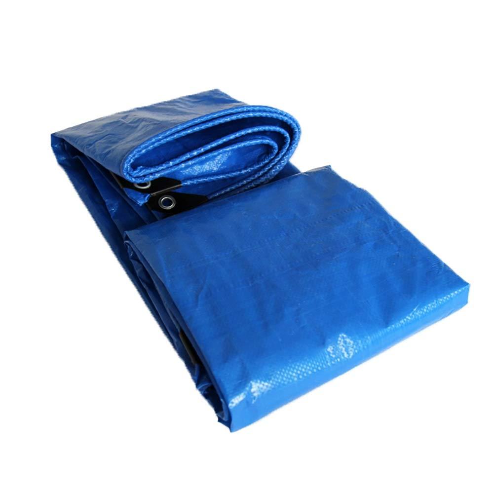 HQCC Tuch Filmpapier Regendichte Tuchplane Tuchplane Tuchplane Blauer Farbton Regenschutz Körnungstuch Doppelte Blaue Plastikplane (größe   4x6M) B07PV4ZHLD Zeltplanen Neues Produkt 5c6afc