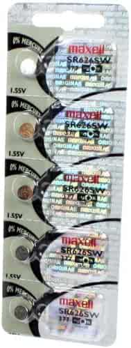5 Maxell SR626SW 377 Silver Oxide Watch Batteries