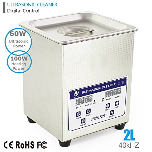 eRoad Industrial Digital Control 2.0L Professional Industry Heated Ultrasonic Cleaner with