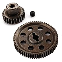 Shaluoman 11184 Diff. Main Gear (64T) & 11176 Motor Gear (26T) For HSP 1/10 RC 4WD Model Car Spare Parts
