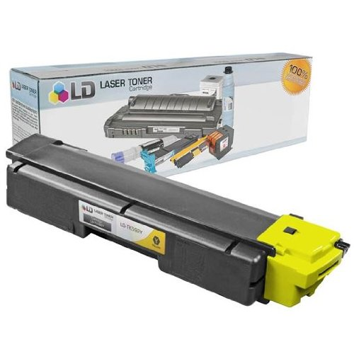 LD © Kyocera-Mita Compatible TK592Y Yellow Laser Toner Cartridge for use in FS-C2026MFP, FS-C2126MFP, FS-C5250DN, M6026cidn, M6526cdn, M6526cidn, P6026cdn, P6526cdn, P6526cidn, & P6026cidn