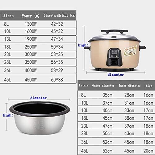 POETRY Cuiseur à Riz Grande capacité 8-45L avec cuiseur à Vapeur Cantine Hôtel Hôtel Commercial Accueil Grand cuiseur à Riz à l'ancienne 8-60 Personnes (Taille: 8L-1300W)