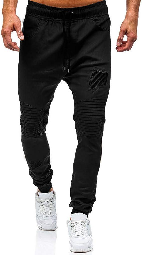 Bestow Pantalones de chándal clásicos con Cordones para Hombres ...