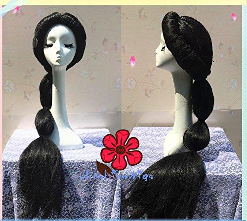 Princess Jasmine Cosplay Wig, 100cm Long Aladdin Disney Princess Anime Wig for Party -