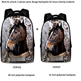 Cheap FOR U DESIGNS Fashion Shy Horse Print Creative Backpack Bookbag Christmas Gift 2 Pieces