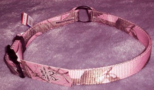 OmniPet 123NRT-PK25 Officially Licensed Real Tree APC Camouflage Nylon Collar, 25 , Pink