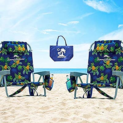 2 Tommy Bahama Backpack Beach Chairs/Turquoise + 1 Medium Tote Bag : Sports & Outdoors