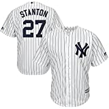 #9: Majestic Athletic Men's New York Yankees Giancarlo Stanton White Cool Base Replica Player Jersey