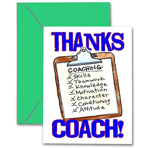 (Play Strong THANKS COACH! Clipboard 3-PACK SPORTS Powercard Greeting Cards (5x7) 3-Pack Perfect for youth sports - COACH will love it! #AllProfitsToHelpKids)