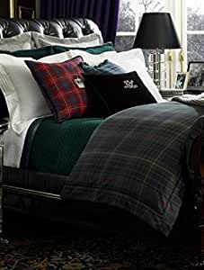 ralph lauren home duke devonshire plaid full queen duvet cover home kitchen. Black Bedroom Furniture Sets. Home Design Ideas