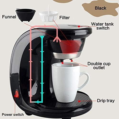 PXX Machines À Café Machine À Café Électrique Automatique Goutte À Goutte Vapeur Instantanée Cafetière 2 Tasses À Café Machine À Expresso