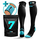 Running Compression Socks – Pro Compression Socks for Women & Men – Knee High Socks for Pregnancy, Travel & Nurses – Best Running Accessories – Graduated Athletic Fit Boosts Circulation & Recovery Review