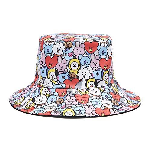 BT21 Black Reversible Bucket Hat for Men and Women - Buy Online in ... 343b211e4b3e