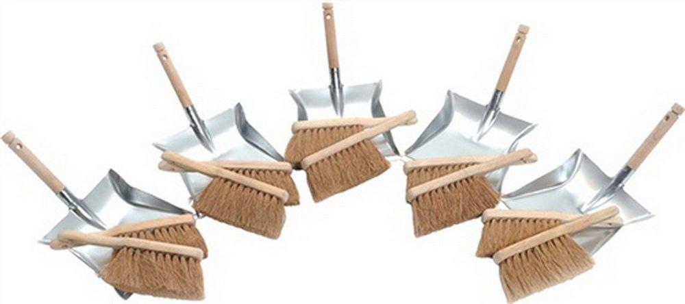 Kehrschaufel-Set 10 Kokos Handfeger 5 Kehrschaufeln verz. Brück