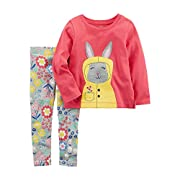 Carter's Baby Girls' 2 Piece Rain Bunny Top and Floral Leggings Set 9 Months