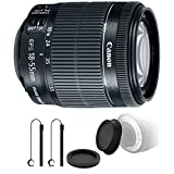 Canon EF-S 18-55mm f/3.5-5.6 IS STM Lens + Rear & Front Lens Cap + Two Lens Cap Holder For Sale