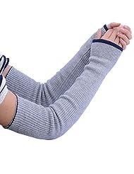 Cityelf Women's Multifunctional Double Side Long Sleeves Glove STW0017 (medium, lightgrey)