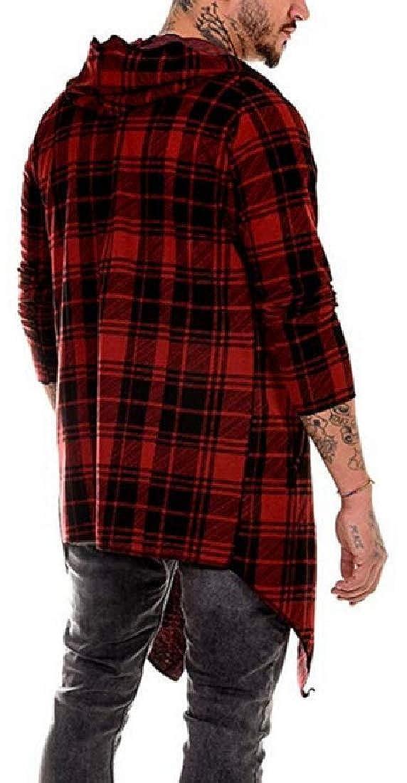 dahuo Manteau Anti-poussière Classique à Capuche pour Homme Rouge.