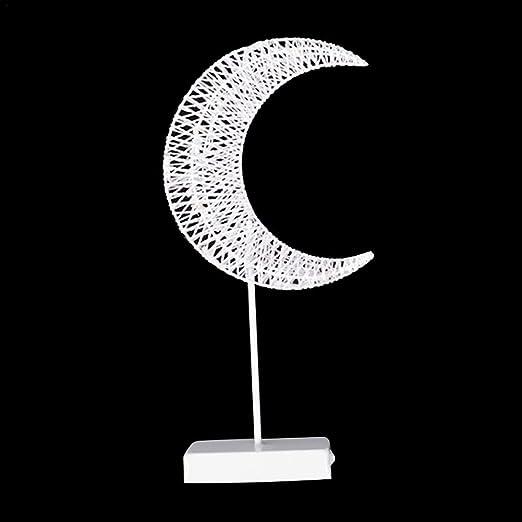 Lámpara LED de estrella con soporte con pilas, lámpara de ...