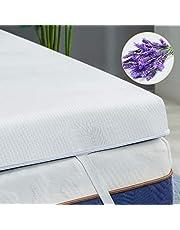 BedStory Matrastopper 140x200, Traagschuim matras Topper 5cm RG50 visco-elastische, Anti-Slip Materiaal afneembare en wasbare hoes, voor oncomfortabele bedden / matras / Spring matras