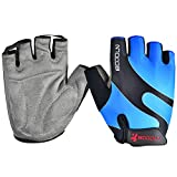 Mifulgoo Breathable Lycra Non-Slip Foam Pad Half Finger Fingerless Short Gloves for Cycling Mountain Bike Road Racing Bicycle Motorcycle Exercise Skate Skateboard Roller Skating