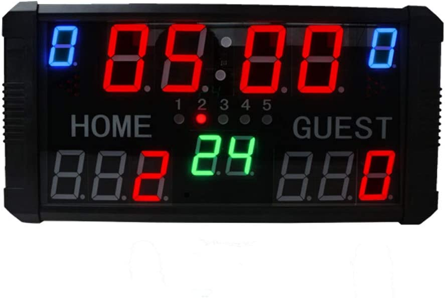 GAN XIN - Marcador LED con pantalla de 14 dígitos para baloncesto, tenis, fútbol