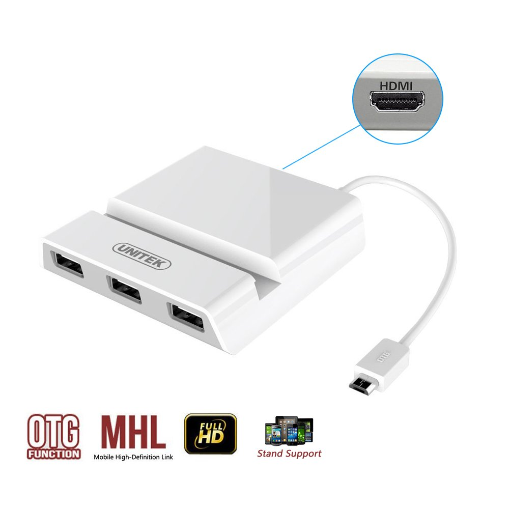 Unitek Otg Mhl To Hdmi Multimedia Charging Dock Micro Usb Hub With Wiring Diagram Hecho Cable Only For Samsung Galaxy S3 S4 Note2 Note3 Electrnicos