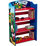 Delta Children Disney Mickey Mouse Kids Adorable Corner Adjustable Bookshelf Organizer