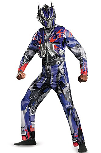 Disguise Men's Hasbro Transformers Age Of Extinction Movie Optimus Prime Deluxe Costume, Blue/Red, XX-Large/50-52 for $<!--$47.81-->