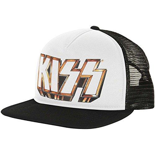 Kiss Men's Baby Bill Trucker Cap Adjustable Black