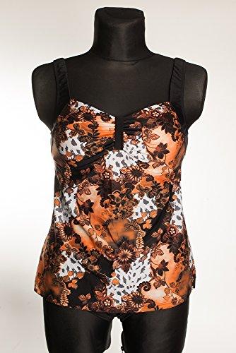 Elastic Bikini - Tankini - para mujer naranja