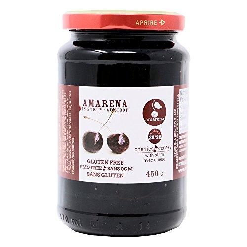 Amarena Dark Cherries in Syrup with Stem - 15.9 oz (450 g)