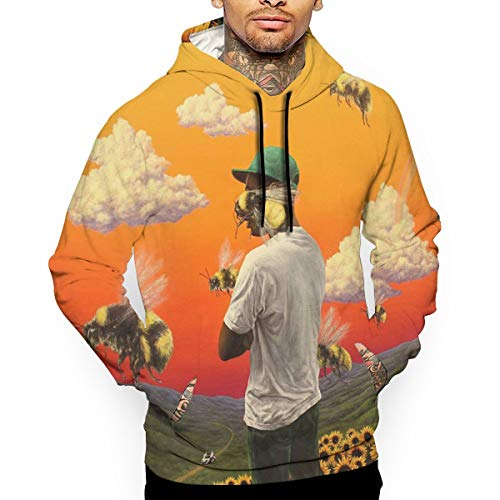For L And Yu Men's 3D Print Hoodie Sweatshirt Tyler,Flower Boy The Creator Sports Cotton Sweater