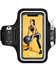Cell Phone Armband Case, Adjustable Running Armband with Card & Key Holder, Sports Phone Holder case for iPhone 12/SE/11 Pro Max/11/XR/8/8 Plus/7 Plus/7, Galaxy S20/S10/S9 Up to 6.5''