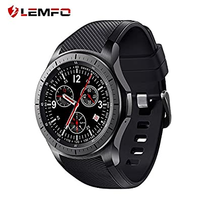 LEMFO Smart Watch Cell Phone Android 5.1 MTK6580 Quad Core 3G WIFI GPS Heart Rate Monitor Smartwatch All-in-One