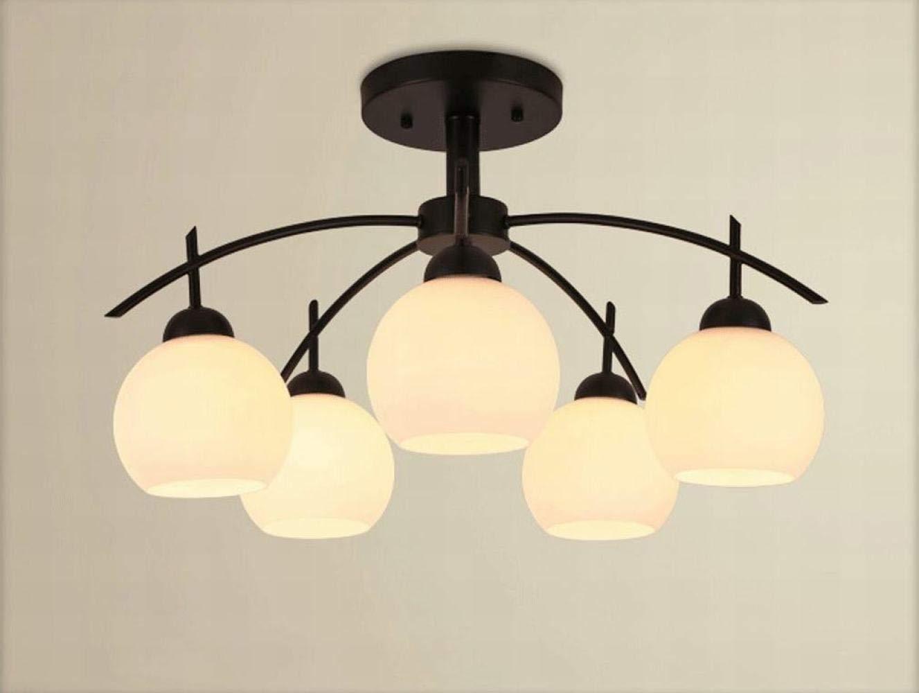 JIE Deckenleuchten, Eisen Deckenleuchten Schlafzimmer Wohnzimmer Amerikanisches Licht Einfache Nordic Lampen Und Laternen (Farbe    2)