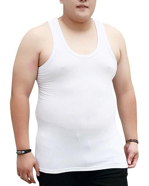 Hombre Sin Mangas Camiseta Classic Chaleco Ropa Interior Tamaño Grande Blanco 2XL
