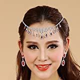 Lecent@ Fashion Belly Dance Red Gemstore Accessories Necklace Hair Band