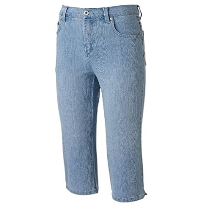 549d5633032bc2 Amazon.com: Gloria Vanderbilt Amanda Embroidered Denim Skimmer Pants -  Petite: Everything Else