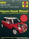 H67020 Mini Cooper and Clubman 2002-2013 Repair Manual by Haynes