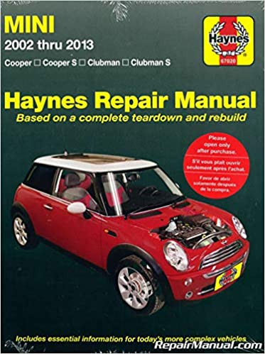 H67020 Mini Cooper and Clubman 2002-2013 Repair Manual by Haynes: Manufacturer: Amazon.com: Books
